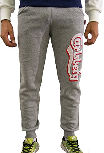 Pantalone Carlsberg In Felpa Invernale CBU2375 Made In Italy Grigio Medio, M MainApps