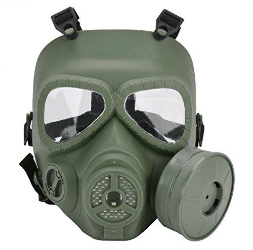 Funpa Airsoft Maske Vollgesichtsmaske M04 Dauerhafte Anti-Fog Outdoor Schutz Paintball Maske mit Fan