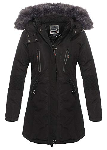Geographical Norway - Parka Femme Coraly Noir-Taille - 3