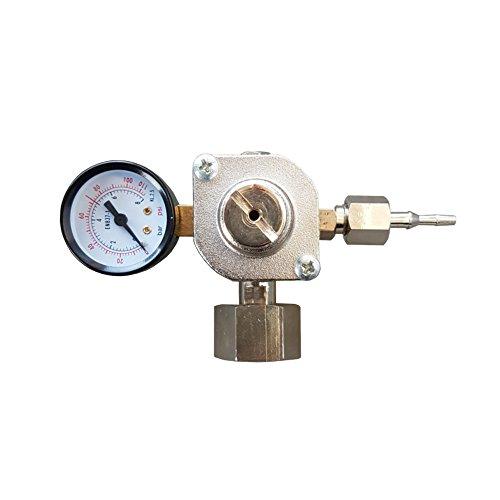CO2 Druckminderer für Mehrwegflaschen bis zu 8 bar EU Standard Norm Anschluss W21,8x1/14