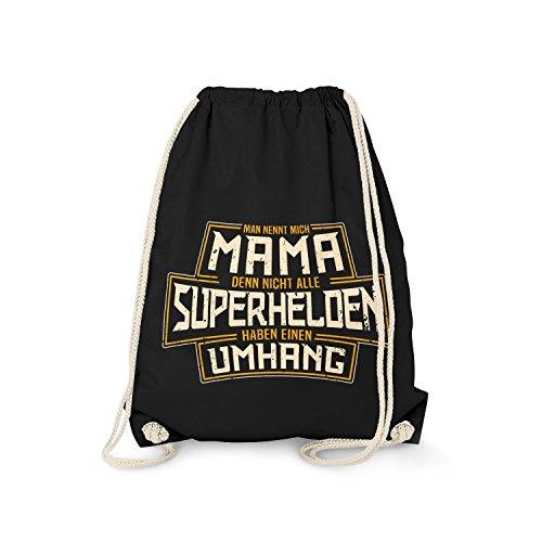 Fashionalarm Turnbeutel - Mama - Nicht alle Superhelden haben einen Umhang   Fun Rucksack mit Spruch lustige Geschenk Idee Geburtstag Muttertag, ()