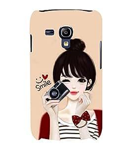 Print Masti Designer Back Case Cover for Samsung Galaxy S Duos 2 S7582 :: Samsung Galaxy Trend Plus S7580 (Star Stylish Hair Child Purse)
