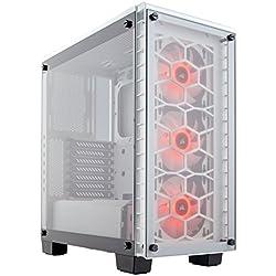 Corsair Crystal 460X RGB Boîtier PC Gaming (Moyenne Tour ATX avec Fenêtre en Verre Trempé) Blanc