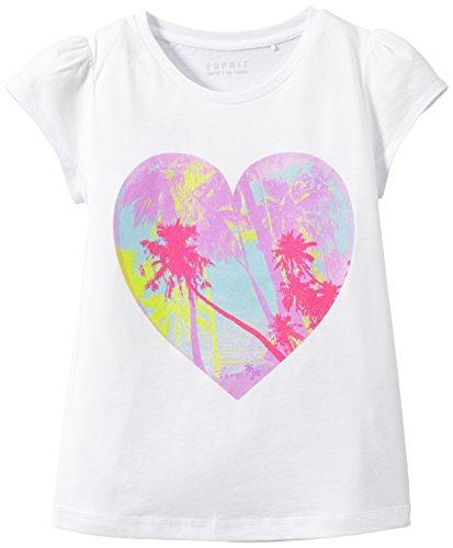 ESPRIT Mädchen T-Shirt 045EE7K011 , Weiß , Gr. 116/122 (Herstellergröße: 6-7 Jahre)
