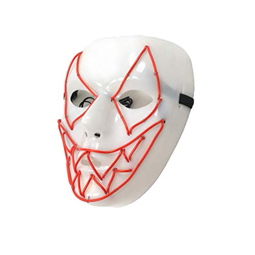 Kostüm Halloween Light Up - Mobestech Halloween Cosplay Maske Furchterregende LED Wire Light Up Maske für Festival Horror Party Halloween Kostüm