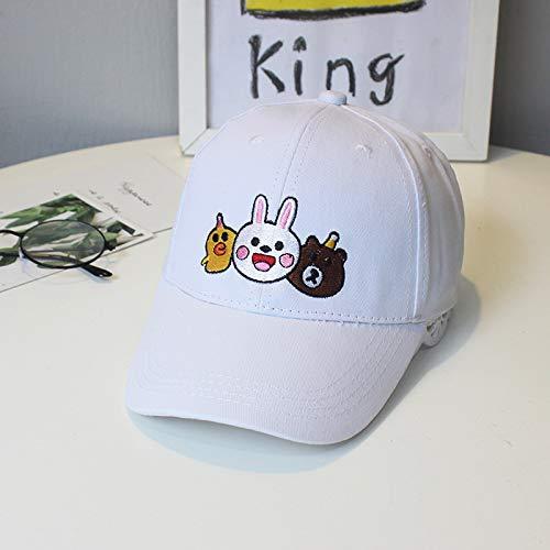 mlpnko Neue Kinder Baseball Cap 2-5-8 Jahre alt Baby Outdoor Sonnenschirm Hut Huhn bär Kaninchen weiß S52cm (empfohlen 4-8 Jahre - Weißes Kaninchen Kostüm Weiblich