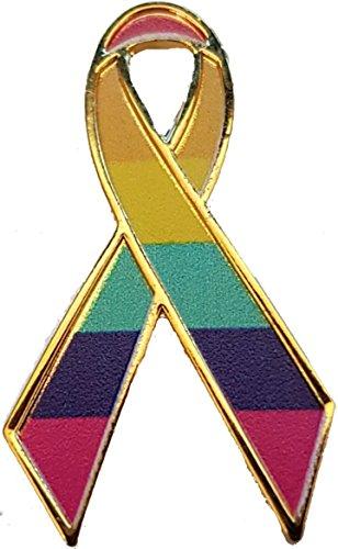 Wristbands Online Orgullo Gay Ribbon Conciencia Pin de Solapa