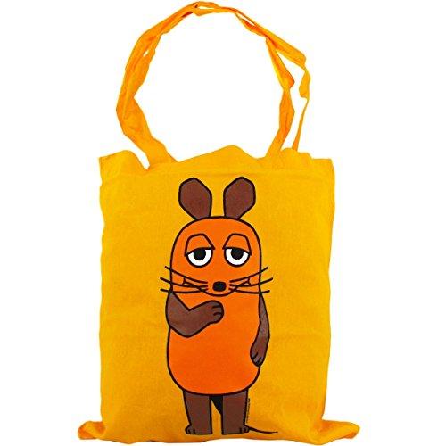 Preisvergleich Produktbild Logoshirt Stoffbeutel Maus Cotton Bag Beutel Tasche yellow - 60 cm x 36 cm