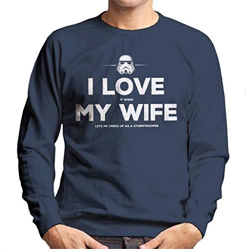 Original Stormtrooper Wife Lets Me Dress Up Men's Sweatshirt (Jedi Dress Up)