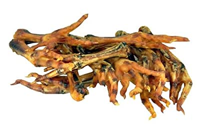 Dried Chicken Feet Natural Healthy Dog Crunchy Tasty Chew Treats - Pack of 40 by TentSpares
