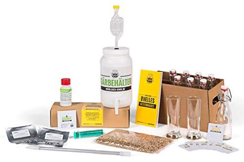 Bier Kwik® Microbrauset HELLES - Bier selber brauen in der Küchenmaschine/Bierbrauset mit frischen Zutaten ohne Extrakte/Geschenkidee für Männer
