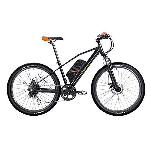 Sharon SachsenRad E-Racing Bike R6, Motor de 240W hasta 25 km/h, 26 Pulgadas, Cambio de Marcha de 7 velocidades, Freno de Disco mecánico, neumático Ancho Kenda, Negro