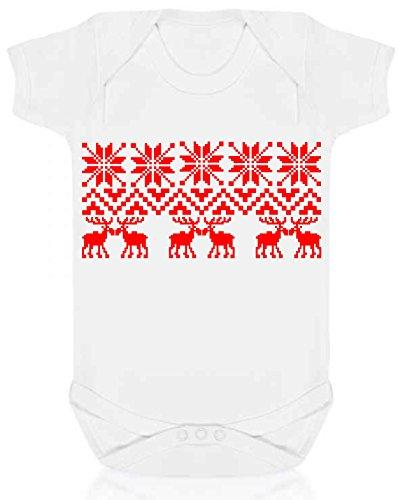 Bullshirt 's Christmas Argyle Muster Strampler weiß weiß -