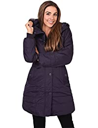KRISP® Damen Wintermantel mit Stehkragen oder Abnehmbarer Kapuze