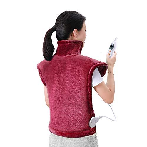 MaxKare Heizkissen für Rücken Schulter Nacken Abschaltautomatik Wärmekissen Heizschal und Schneller Heiztechnologie für Entlastung von Rücken und Schultern Heizdecke