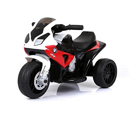 LT883 Motocicleta eléctrica para niños BMW luces LED 6V MP3 edad de 3 a 8 años - Rojo