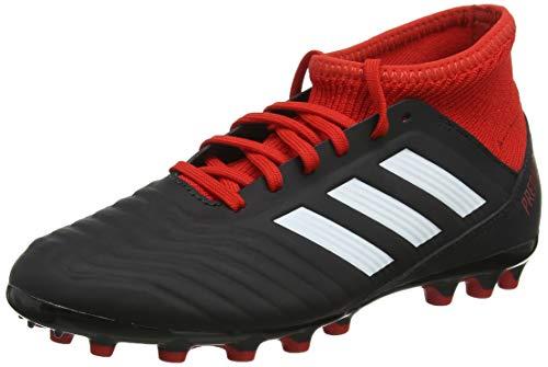 Adidas Predator 18.3 AG J, Botas de fútbol Unisex niño, Negro (Negbás/Ftwbla/Rojo...
