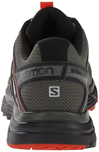 Salomon - X-mission 3, Scarpe da trail running Uomo Verde / Nero / Arancione (Night Forest/Black/Solar Orange)