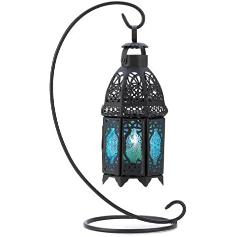 Gifts & Decor Night Hanging Table Lantern Candle Holder, Sapphire by Furniture Creations