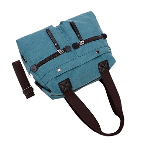 Vintage Damen Handtaschen Segeltuch Unisex Schultertasche Weinrot L002EU-Weinrot