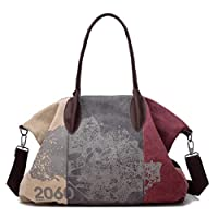 Fashion Bag For Women,Multi Color - Canvas & Beach Tote Bags (Red)