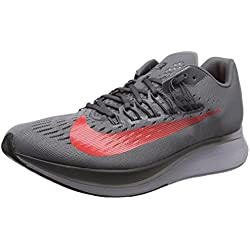 Nike Zoom Fly, Zapatillas de Running para Hombre, Gris (Gunsmoke/Bright Crimson/Thunder Grey 004)