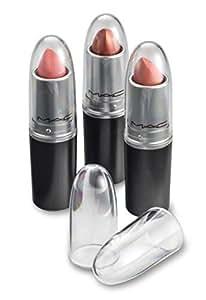 byAlegory Clear Capsules à lèvres acryliques - Remplace les bâtonnets à lèvres individuels MAC - Voyez facilement votre couleur de rouge à lèvres - (24 Pack)