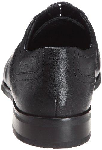 Clarks Brint Cap, Chaussures de ville homme Noir (Black Leather)