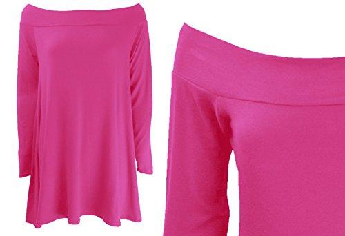 Generic - Robe - Bandeau - Manches Longues - Femme Multicolore Bigarré Taille Unique Cerise