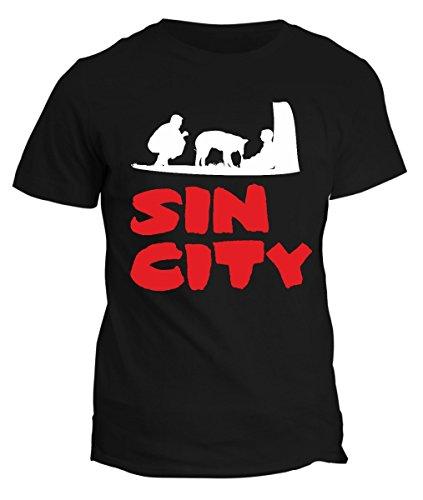 T-shirt Sin City-maglietta film cartone cinema cani cult