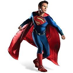 Superman Hombre de 4 piezas mono Cabo puños de cinta de la película de lujo de los hombres de vestuario de acero de DC Comics - XL