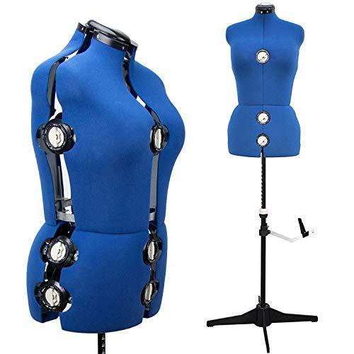 13Zifferblätter Professional weiblich Nähen verstellbar Kleid Form Mannequin vollständig erregen (Nähen Kleid Form, Medium)