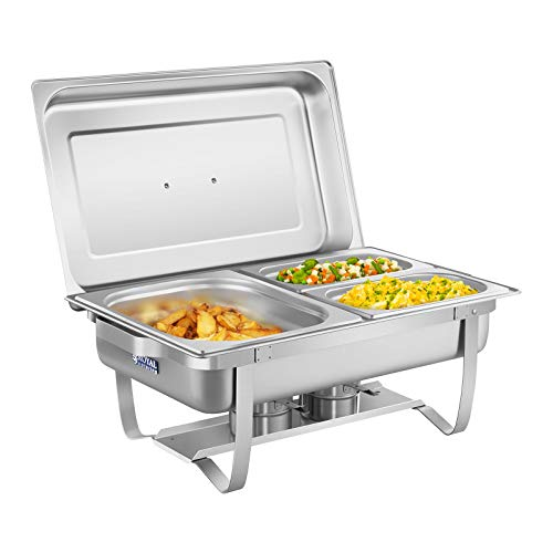 Royal Catering Scaldavivande Chafing Dish RCCD-1.3GN-1 (incl. Vassoi GN 1/2, 2 x...
