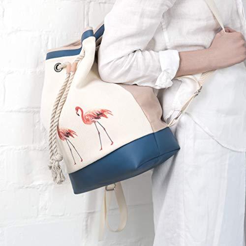 Leder Rucksack, Segeltuch Rucksack, Canvas Rucksack, Frauen Rucksack (Segeltuch-frauen-rucksack)