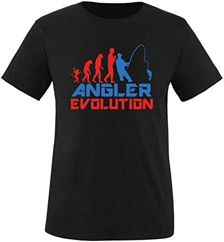 EZYshirt® Angler Evolution Herren Rundhals T-Shirt Schwarz/Rot/Blau