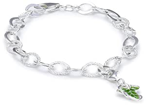 The Hobbit Jewelry Damen-Charms Anhänger mit Silberkette 19 cm Leaf 19010026