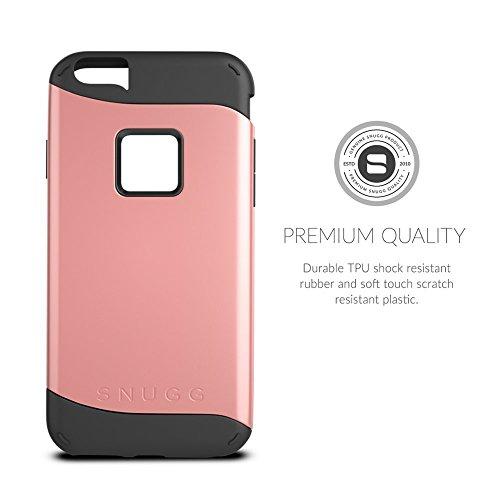 Cover iPhone 6 Plus / 6s Plus, Snugg Apple iPhone 6 Plus / 6s Plus Custodia Case [Scudo Sottile] Protettiva Per Pelle – Grigio, Infinity Series Gold
