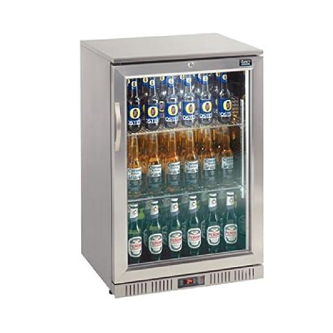 LEC Commercial Single Door Back Bar Cooler Stainless Steel 900X600X500mm Fridge