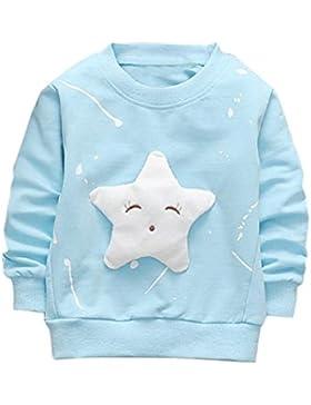 ❤️Kobay Junge Mädchen Baby Outfits Kleidung InfantStar Gedruckte Baumwolle Lange Ärmel T-Shirt