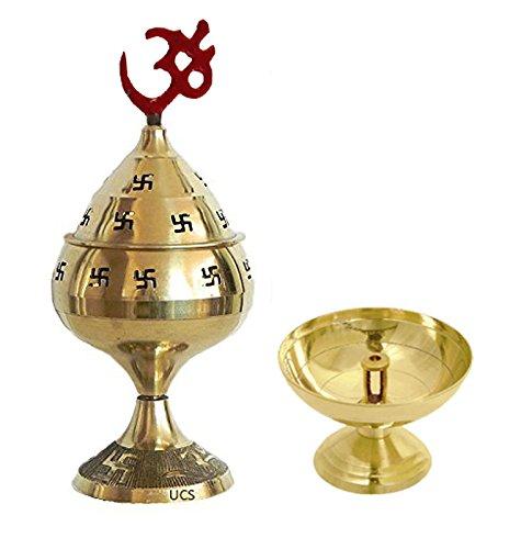 Craft Art Inde Combo Offrent – Fait Main Laiton Diya/Pooja/Jyot/Pūjā/Indien Dieu – Deux Types de Diya