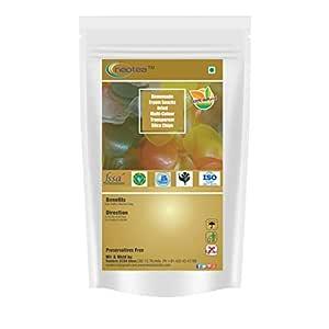 Neotea Homemade Fryum Snacks Dried Multi-Colour Transparent Slice Chips, 250g