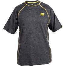 Mens Caterpillar Performance T-Shirt - Sml Med Lge XL XXL 3XL 4XL - White