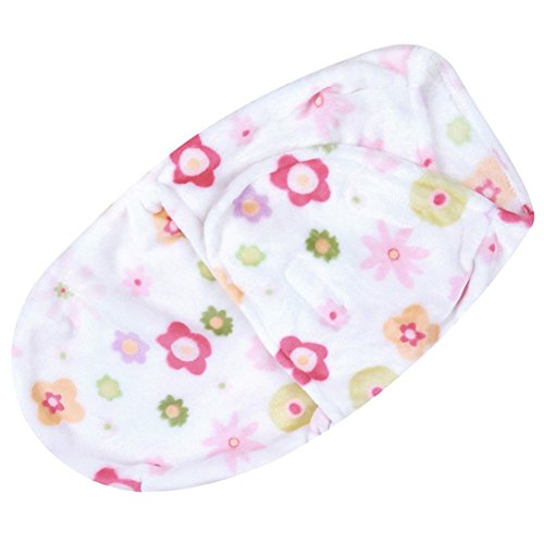 Baby Swaddle Decke Blanket, Baywell Neugeborenes Flanell Baby Sleeping Bag für 0-3 Monate (Blumen)