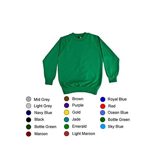 Sweat-shirt à col rond de 56 cm - 17 Coloris 46in la poitrine Vert - Vert forêt
