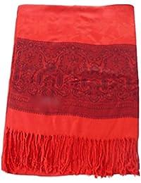 CJ Apparel Jacquard Design 2 Ply Châle réversible Pashmina Écharpe Wrap  Étole 05f9358b9fb