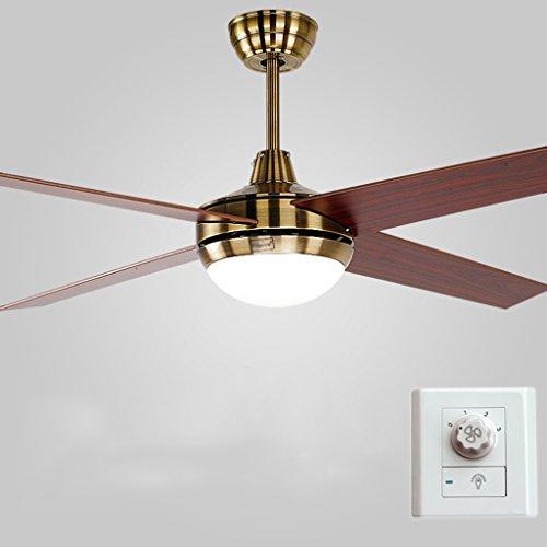 Luces del ventilador LED Ventilador de techo antiguo Luces Ventilador de la lámpara Ventilador de control...