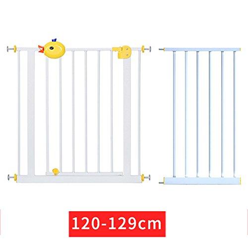 Children safety rails LVZAIXI Eigentlich schließen Sie die Welle Press-fit Sicherheitstür mit Verlängerung (Höhe77cm) (größe : Door Width (120-129cm)+45cm)