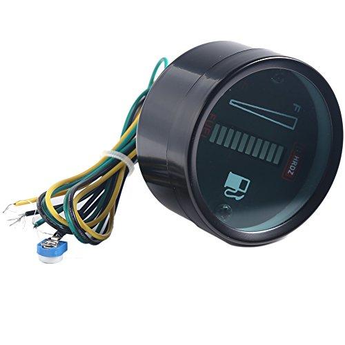 50mm Kraftstoff Meter LED Digital DC12V Tankanzeige Kraftstoff Led Digital DC12V Fuel Gauge für Auto Motorrad Instrumente machen