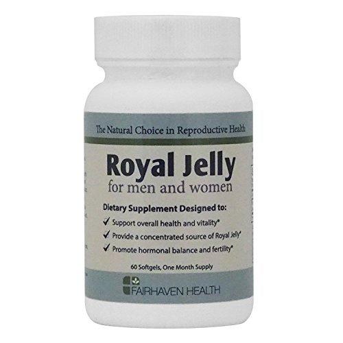 Fairhaven Health - Gelee Royale für Fruchtbarkeit 1000mg, 60 Kapseln - Hormonelle Gleichgewicht, Vitalität & Reproduktive Gesundheit - Pur Bio-Aktiv Nahrungsergänzung für Männer & Frauen (Royal Jelly for Fertility softgels capsules Supplement - Nahrungsergänzungsmittel) -