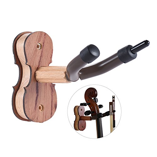 ammoon-hardwood-violin-holder-for-home-studio-wall-mount-foil-hook-rosewood-colour-rosewood
